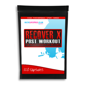 Recover-X post workout supplement - 120 capsules - D-Ribose, HMB, Tri-Creatine Malate, L-Glutamine