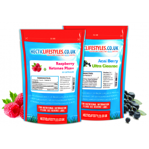 Raspberry Ketone 550mg (60 Capsules) & Acai Ultra Cleanse (60 Capsules)