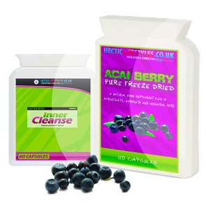 Hectic Lifestyles™ Pure Acai Berry & Inner Colon Cleanse combo (180 capsules)